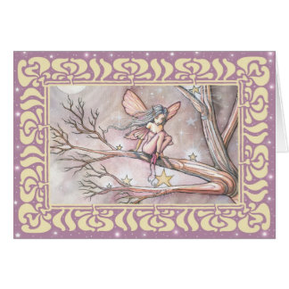Tree of Stars Fairy Blank Card by Molly Harrison