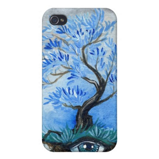 Tree Of Vision Blue Willow Cover For iPhone 4