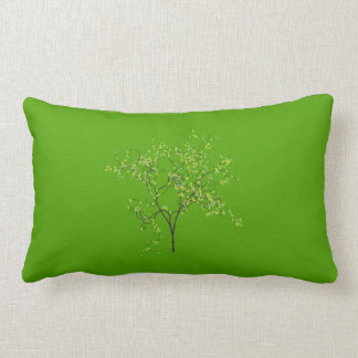 Tree on Green Background Pillow