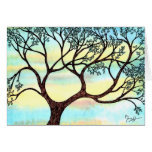 Tree on Vellum with Watercolor Background Cards