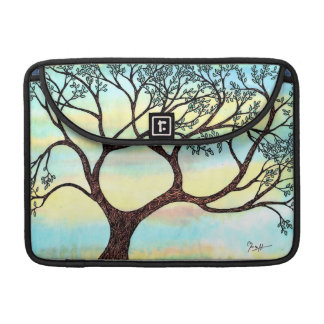 Tree on Vellum with Watercolor Background MacBook Pro Sleeve