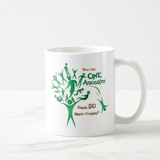 Tree One Ancestor Coffee Mugs