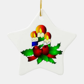 Tree Ornaments:  Candle star Christmas Ornament