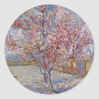 Tree Painting by Vincent Van Gogh Round Stickers