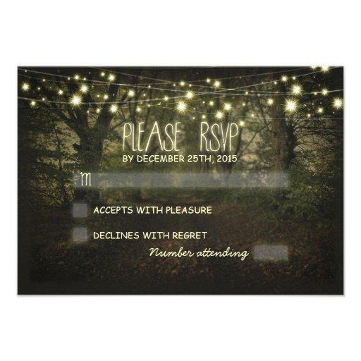 Tree Path rustic wedding RSVP cards