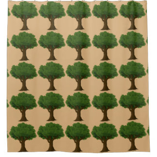 Tree Pattern Shower Curtain