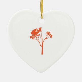 Tree Plant Ceramic Heart Decoration