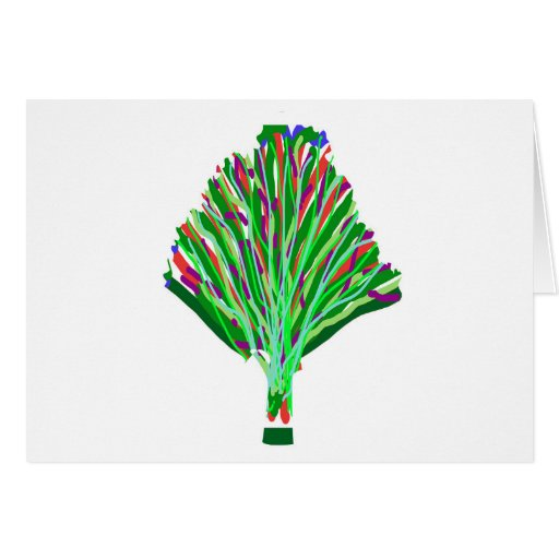 TREE Plant Green Joy Artistic Giveaway Novelty Card