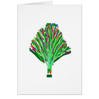 TREE Plant Green Joy Artistic Giveaway Novelty Greeting Card