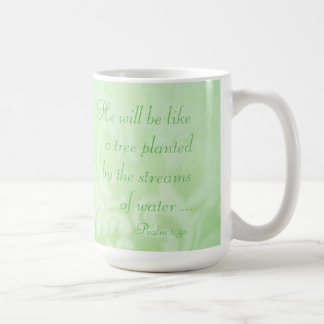Tree Planted by Streams Paisley Ceramic Mug, Green Basic White Mug