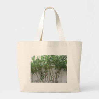 Tree Plants At White Wall Bag