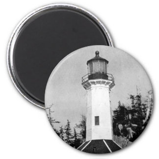 Tree Point Lighthouse 6 Cm Round Magnet
