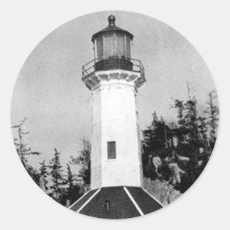 Tree Point Lighthouse Round Sticker