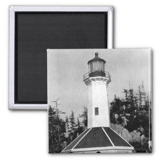 Tree Point Lighthouse Square Magnet