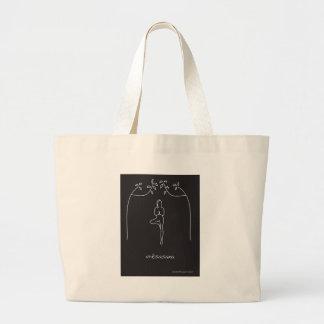 Tree Pose Jumbo Tote Bag