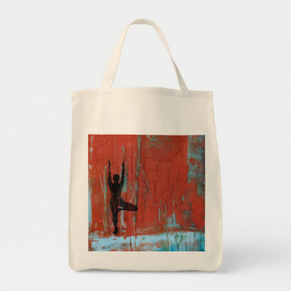 Tree Pose Yoga Girl Grocery Tote