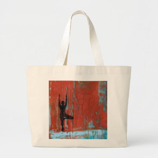Tree Pose Yoga Girl Jumbo Tote