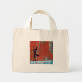 Tree Pose Yoga Girl Tiny Tote