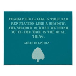 Tree Quote Inspirational Poster
