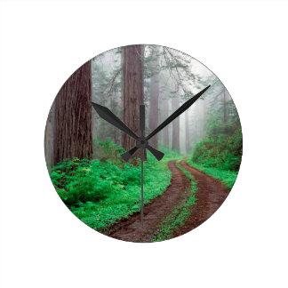Tree Redwood California Round Clocks