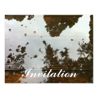 Tree reflection 11 cm x 14 cm invitation card