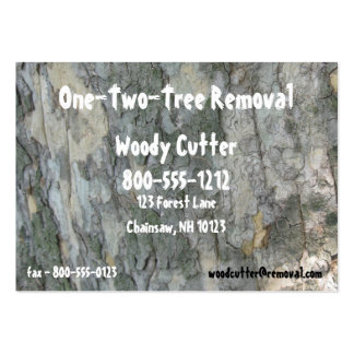 Tree Removal Pack Of Chubby Business Cards