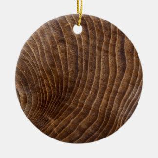 Tree rings christmas ornament