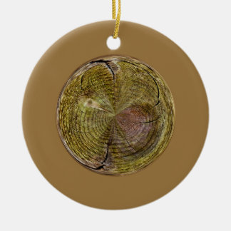 Tree Rings in a Globe in abstract Round Ceramic Decoration