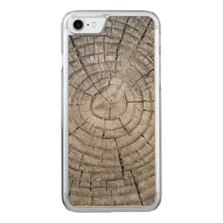 Tree Rings on weathered Stump Texture Carved iPhone 8/7 Case