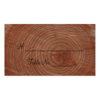 Tree Rings Rustic Country Wedding Place Cards Business Cards