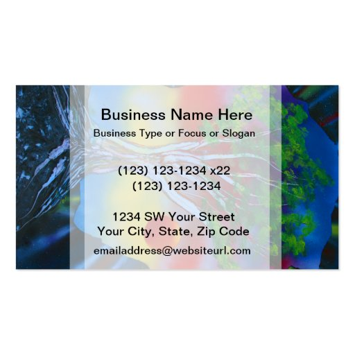tree rock spacepainting colorful image business card
