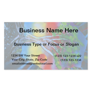 tree rock spacepainting colorful image business card templates