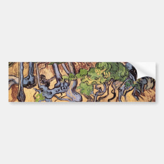 Tree Roots and Trunks (F816)Van Gogh Fine Art Bumper Sticker