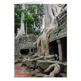 Tree roots at Ta Phrom  Greeting Card