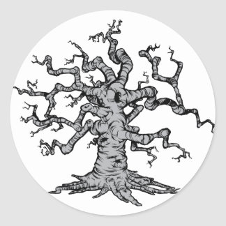 Tree  round sticker