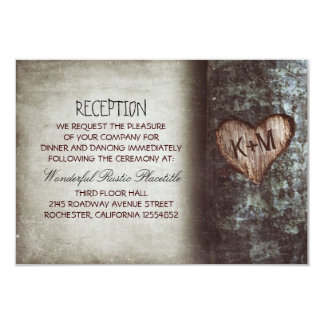 tree rustic wedding reception & driving directions 9 cm x 13 cm invitation card