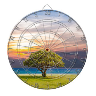 Tree Sea Grass Nature Ocean Summer Landscape Sun Dartboard
