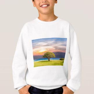 Tree Sea Grass Nature Ocean Summer Landscape Sun Sweatshirt