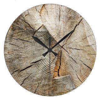Tree Section Cross Large Clock