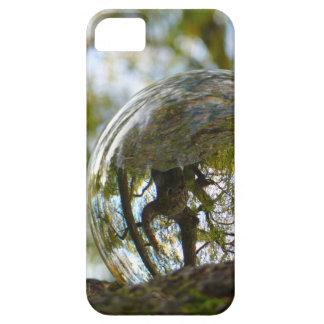 Tree seen through a crystal ball iPhone 5 case