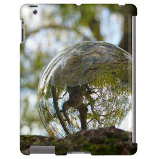 Tree seen through a crystal ball iPad case
