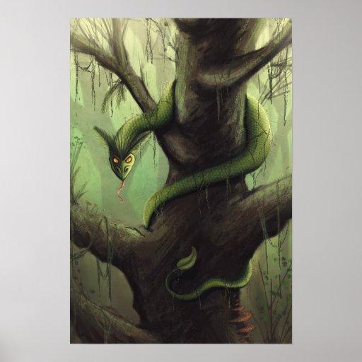 Tree Serpent Print