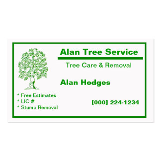 Tree Service Business Card Standard Business Cards