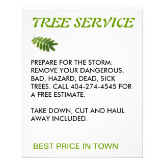 tree service flyer
