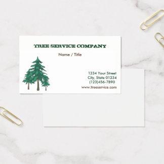 Tree Service Single Sided Business Card