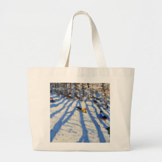 Tree shadows Morzine Jumbo Tote Bag