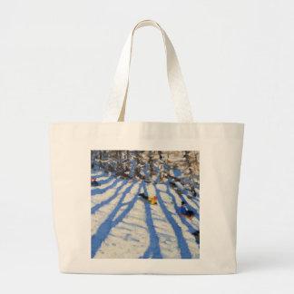 Tree shadows Morzine Large Tote Bag