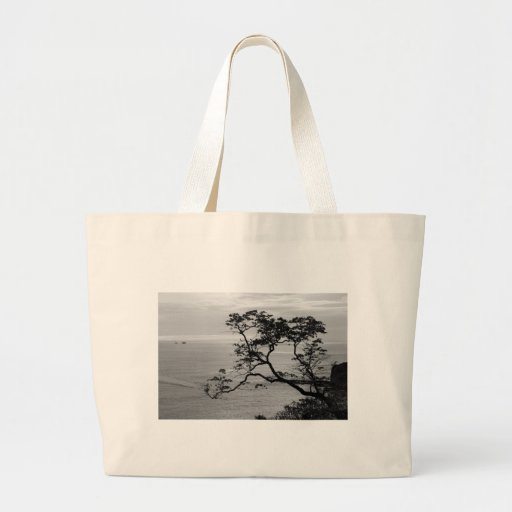 Tree Silhouette Tote Bags