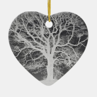 Tree Silhouette Beautiful Chic Ceramic Heart Decoration