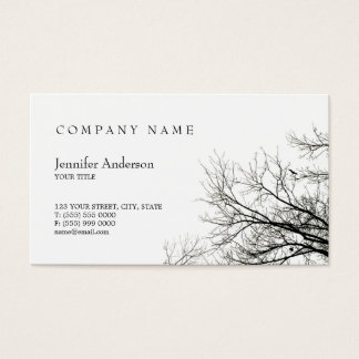 Tree Silhouette business card